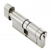 --- :: Euro Cylinder Lock 40/40 (80mm), Thumbturn, Nickel, Anti-Drill, Pick, Plug, Bump With 3 keys, 40/40 (80mm), Nickel