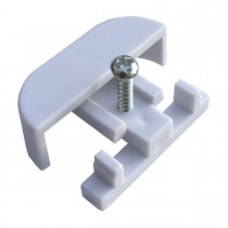 005 B :: Curtain Rail Stop Ends, To Fit Superwhite/Drape/Crest Track, White