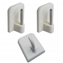 007 A :: Curtain Wire End Hooks, 25mm x 18mm, White